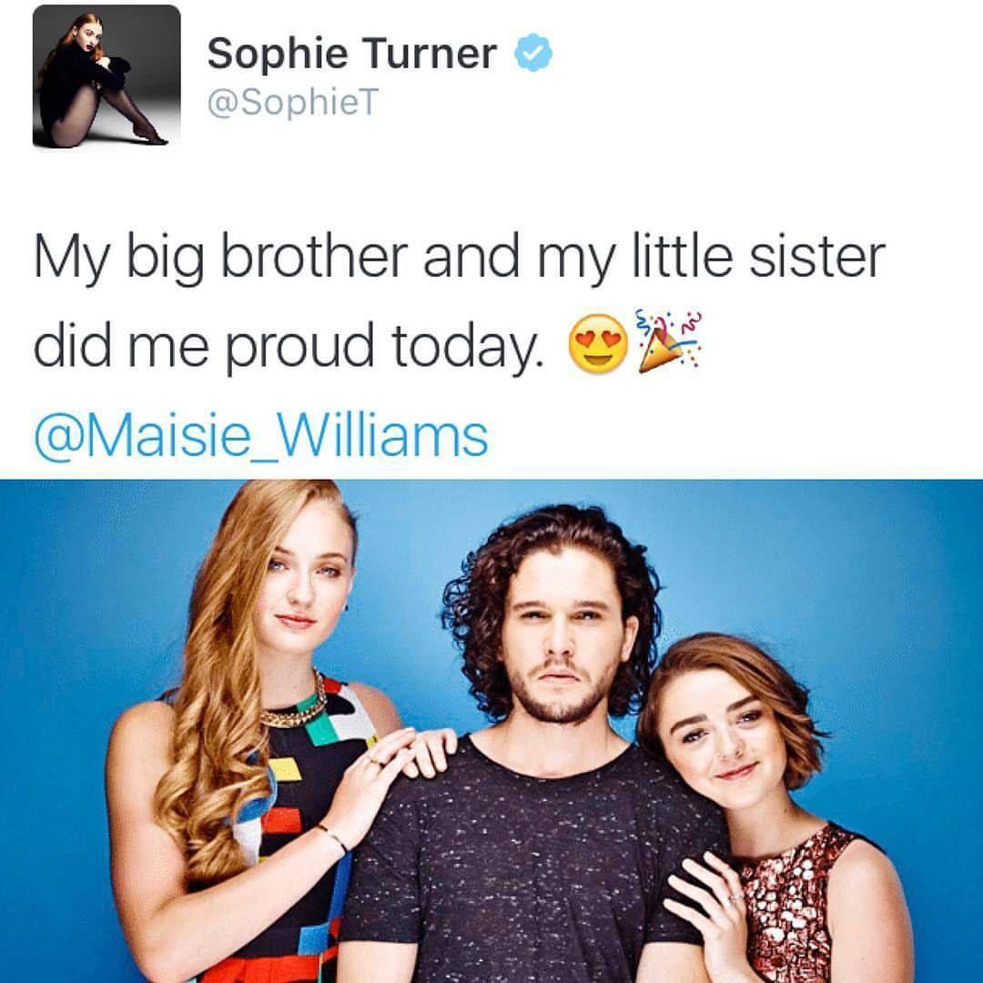"Kit Harington on Instagram: ""Sophie on Twitter ❤ #kitharington #jonsnow #drfaustus #sophieturner #maisiewilliams #gameofthrones"""