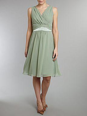 House of Fraser - ARIELLA Chiffon Waist Detail Dress