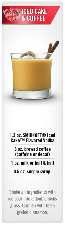 Iced cake coffee Recipe Smirnoff ice Ice cake and Coffee milk