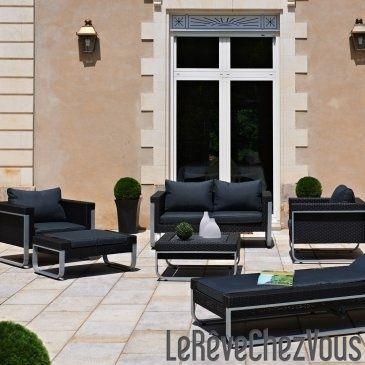 Salon de jardin LUXE ELYSEES 4 à 6 places | coté jardin ...