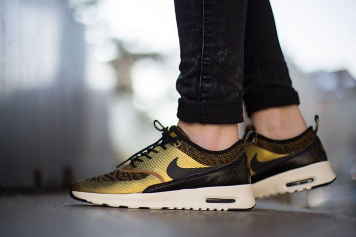 Nike Air Max Thea Knit Jacquard For Women Bronzine Black