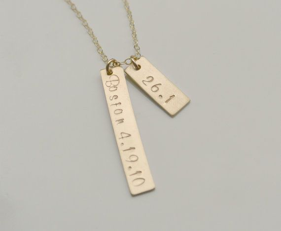 16f0f71522588 Marathon Runners Personalized Tag Necklace by SilverLotusDesigns ...