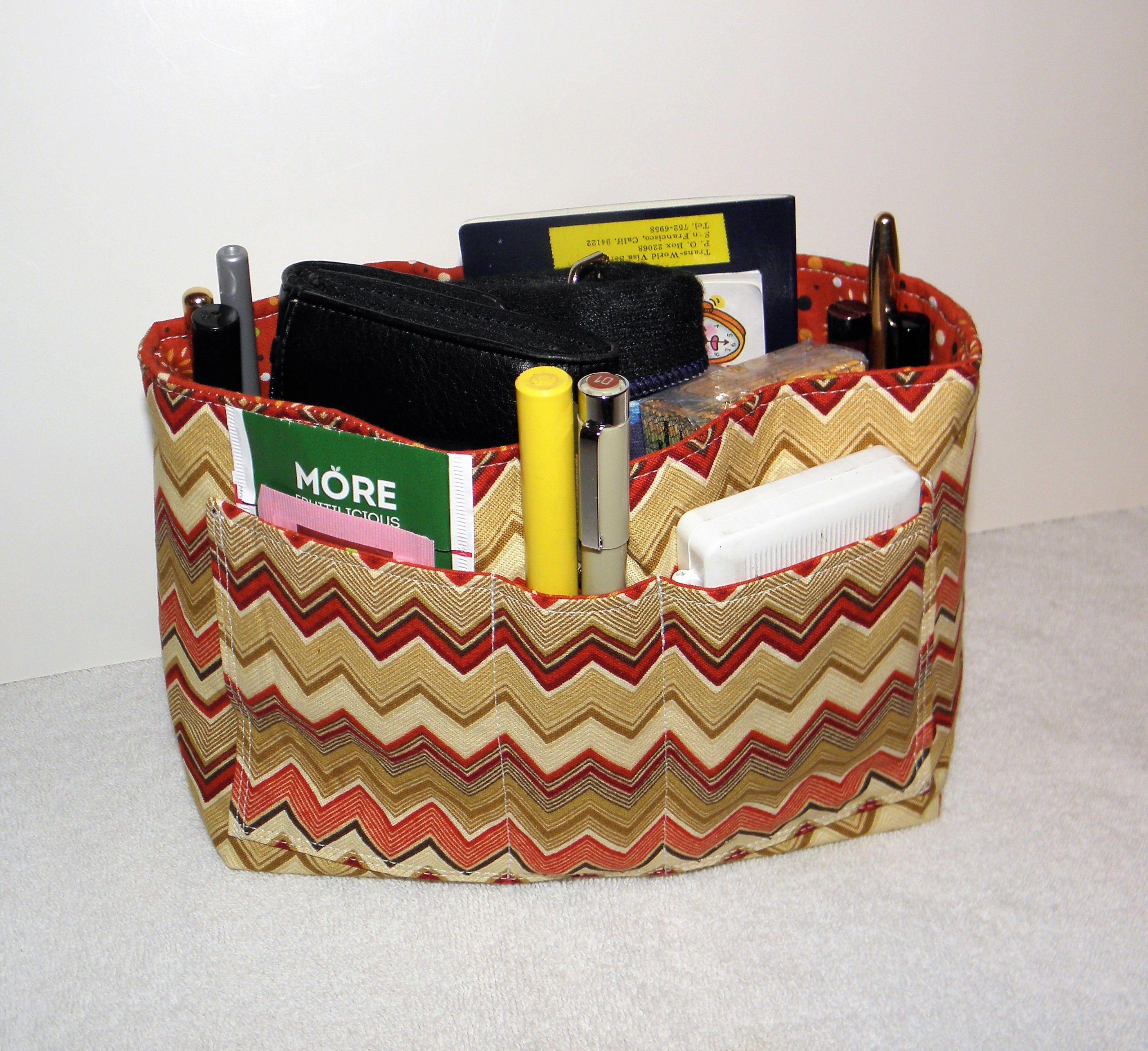 Purse Insert Bag Organizer 15 Pockets Bucket Style Handbag