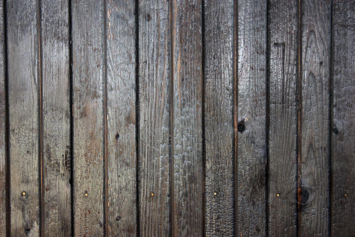 The Texture And Char Pattern Of Deep Char Cedar Siding