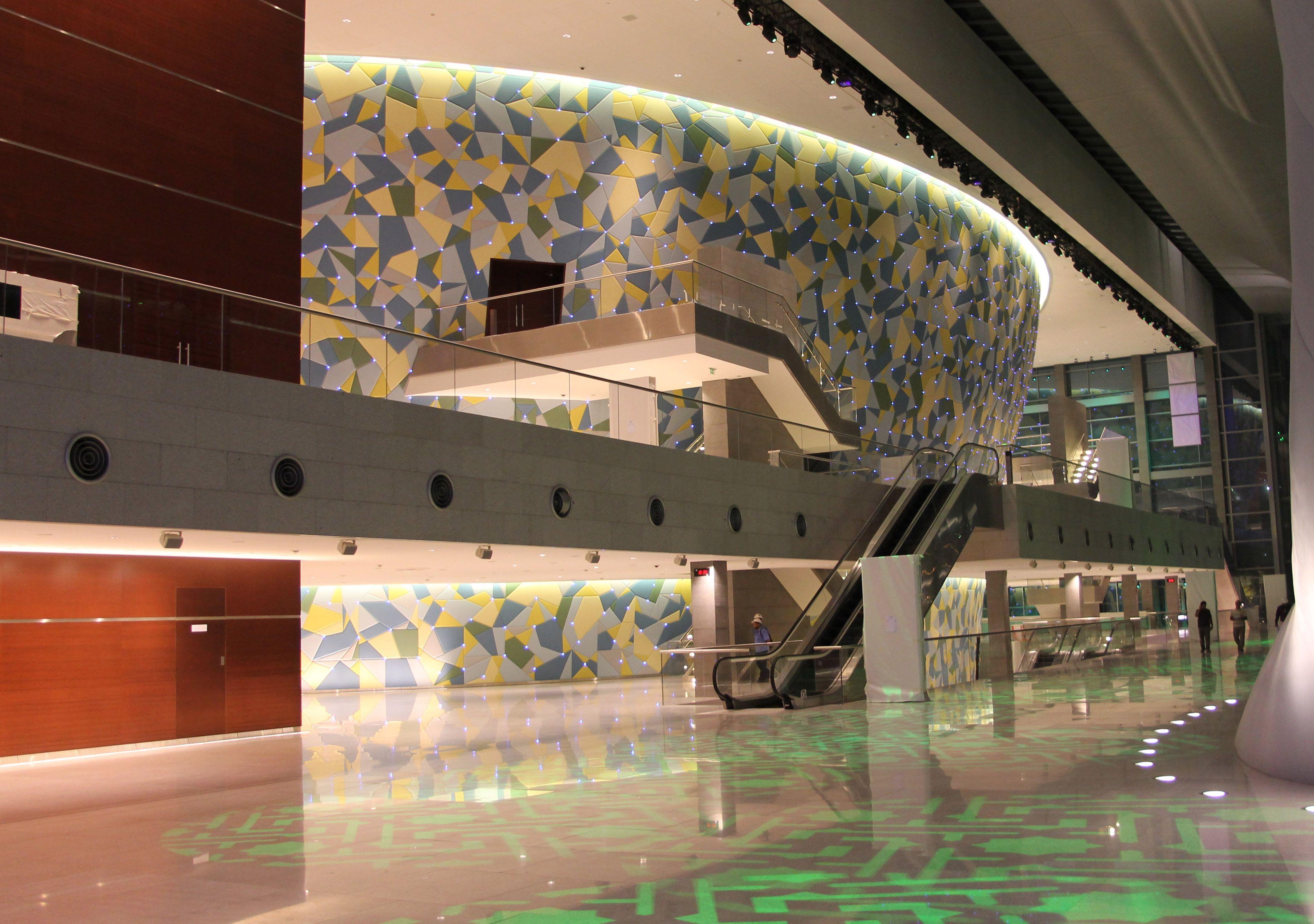 Light design qatar education city international convention