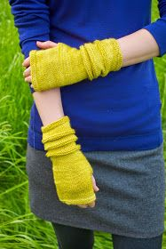 AndreaKnits: Fietser Cowl & Mitts