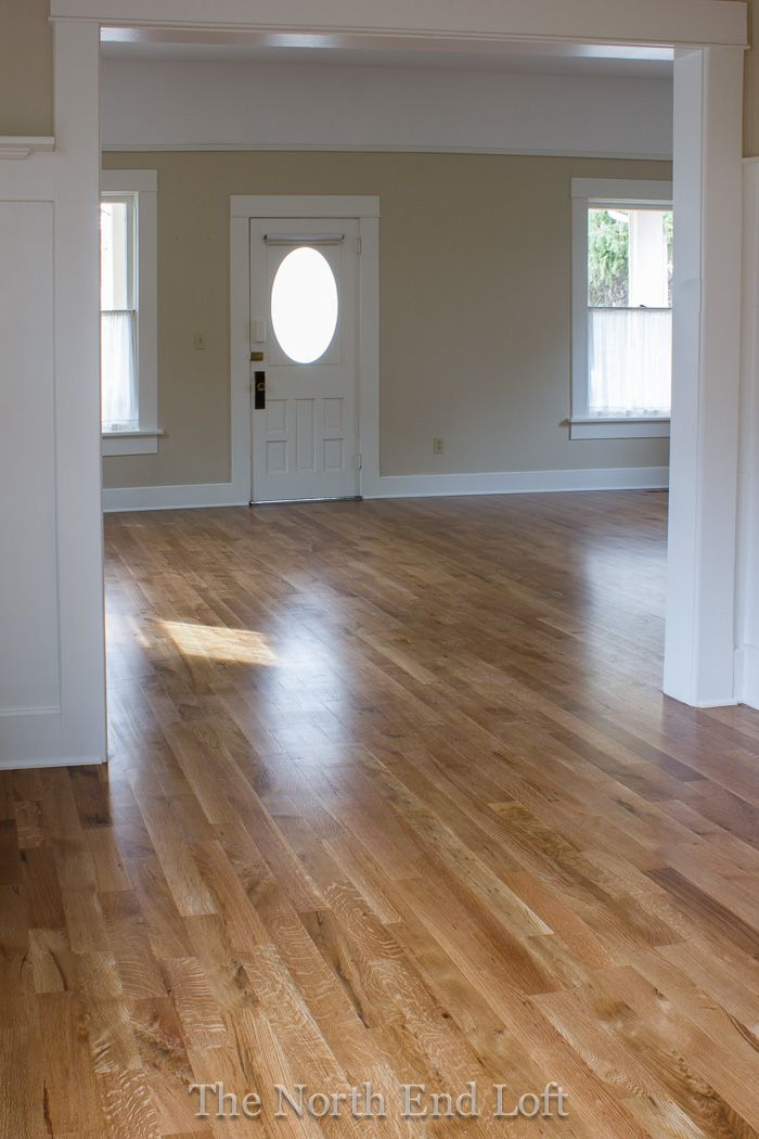 Minwax special walnut on white oak floors love how this for Staining hardwood floors