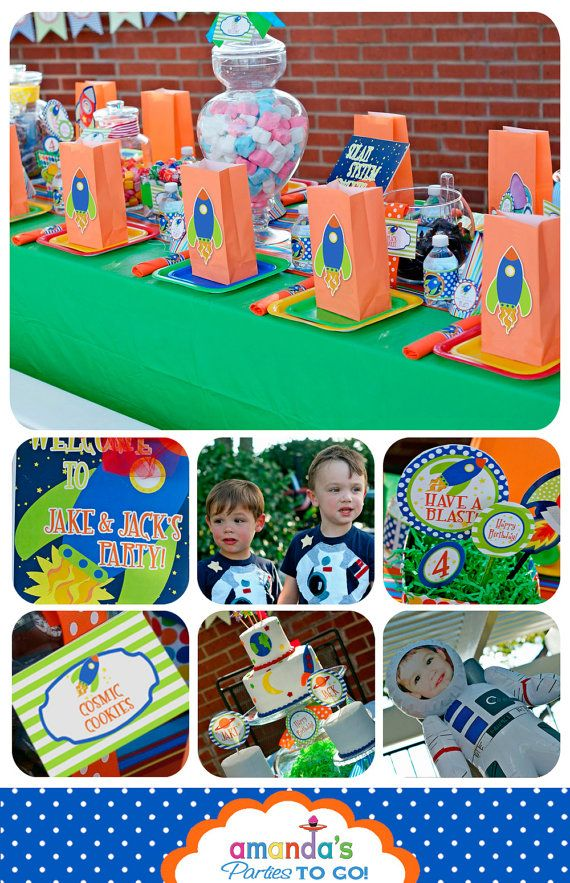 Space Birthday Decorations, Space Party Printables, Rocket