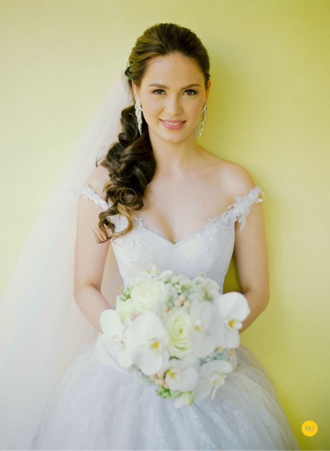 Celebrity Wedding Oyo And Kristine Side Ponytail Wedding Best