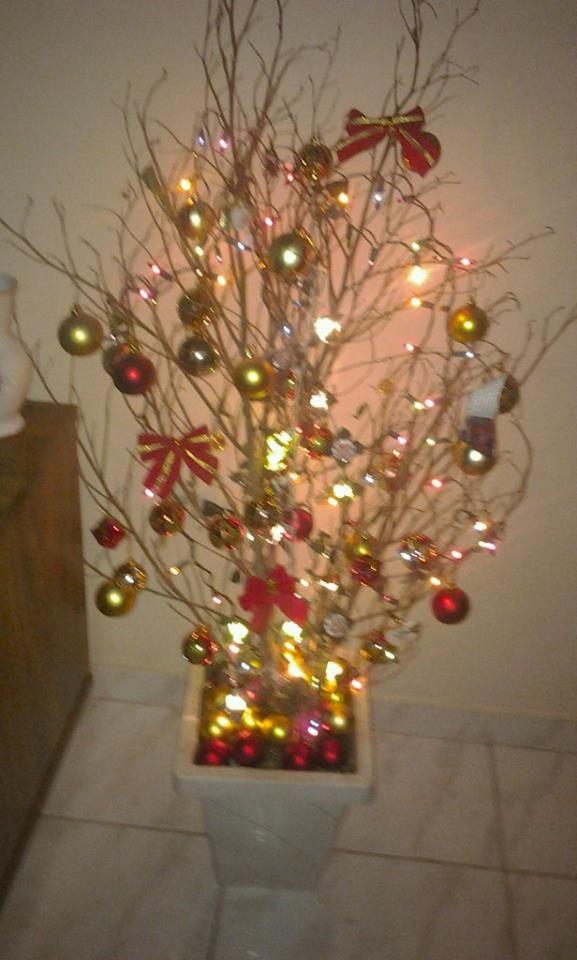 Arvore Natal Com Galho Arvore De Natal Ideias De Decoracao De Natal