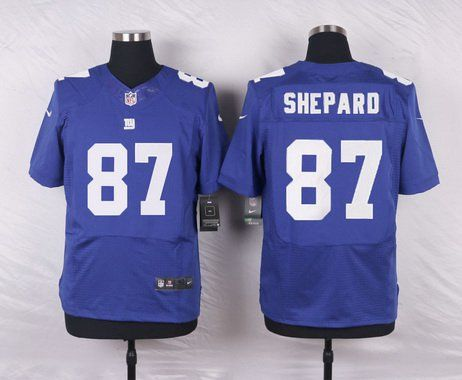 mens new york giants 87 sterling shepard royal blue team color nfl nike elite jersey