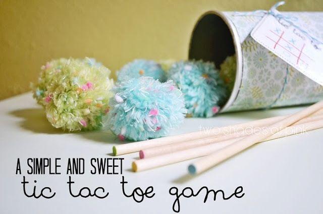 DIY Tic Tac Toe Game {Create Memories with Kids} - The Girl Creative