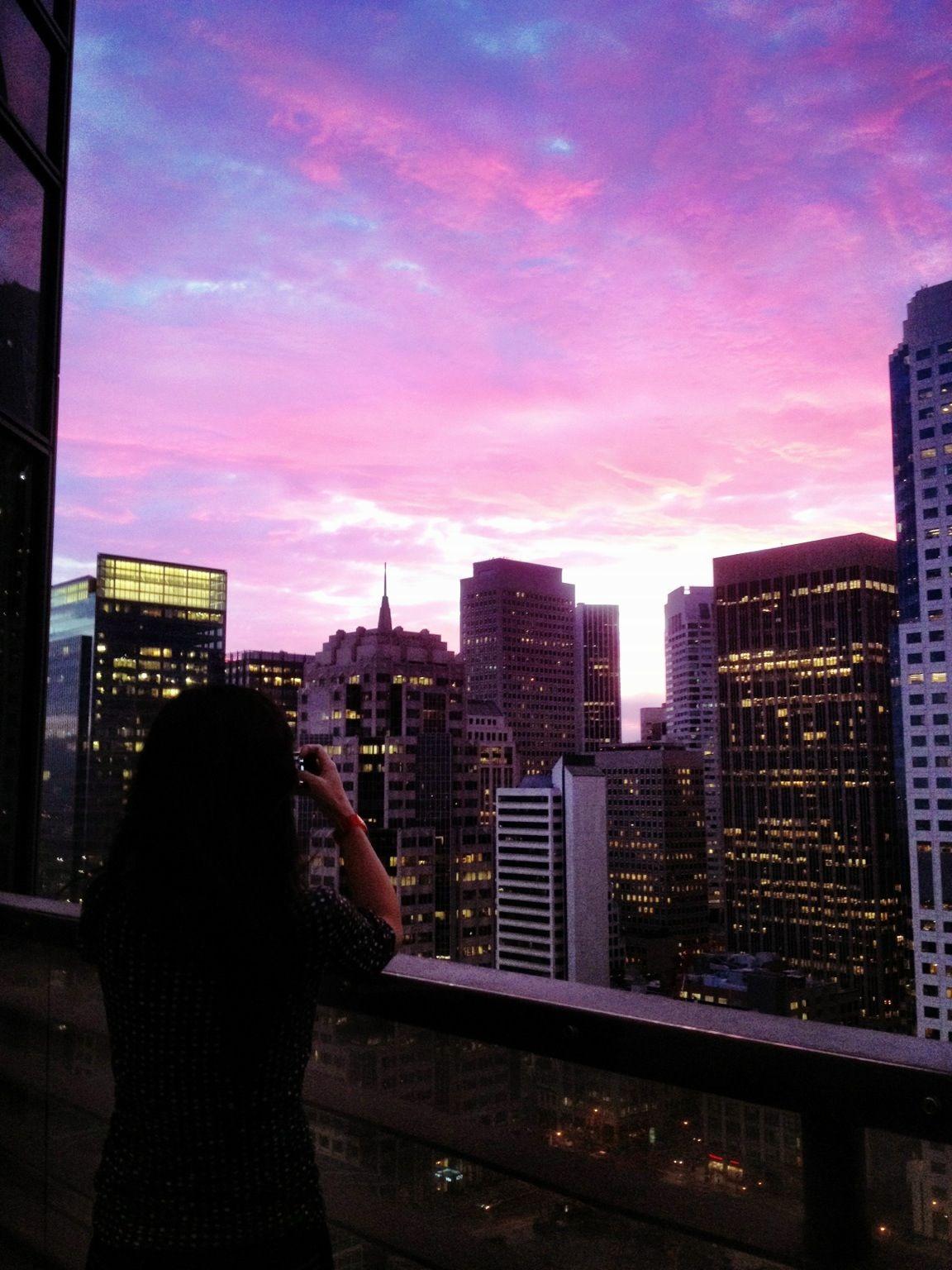 Rainbow sky off the balcony Rainbow sky, New york