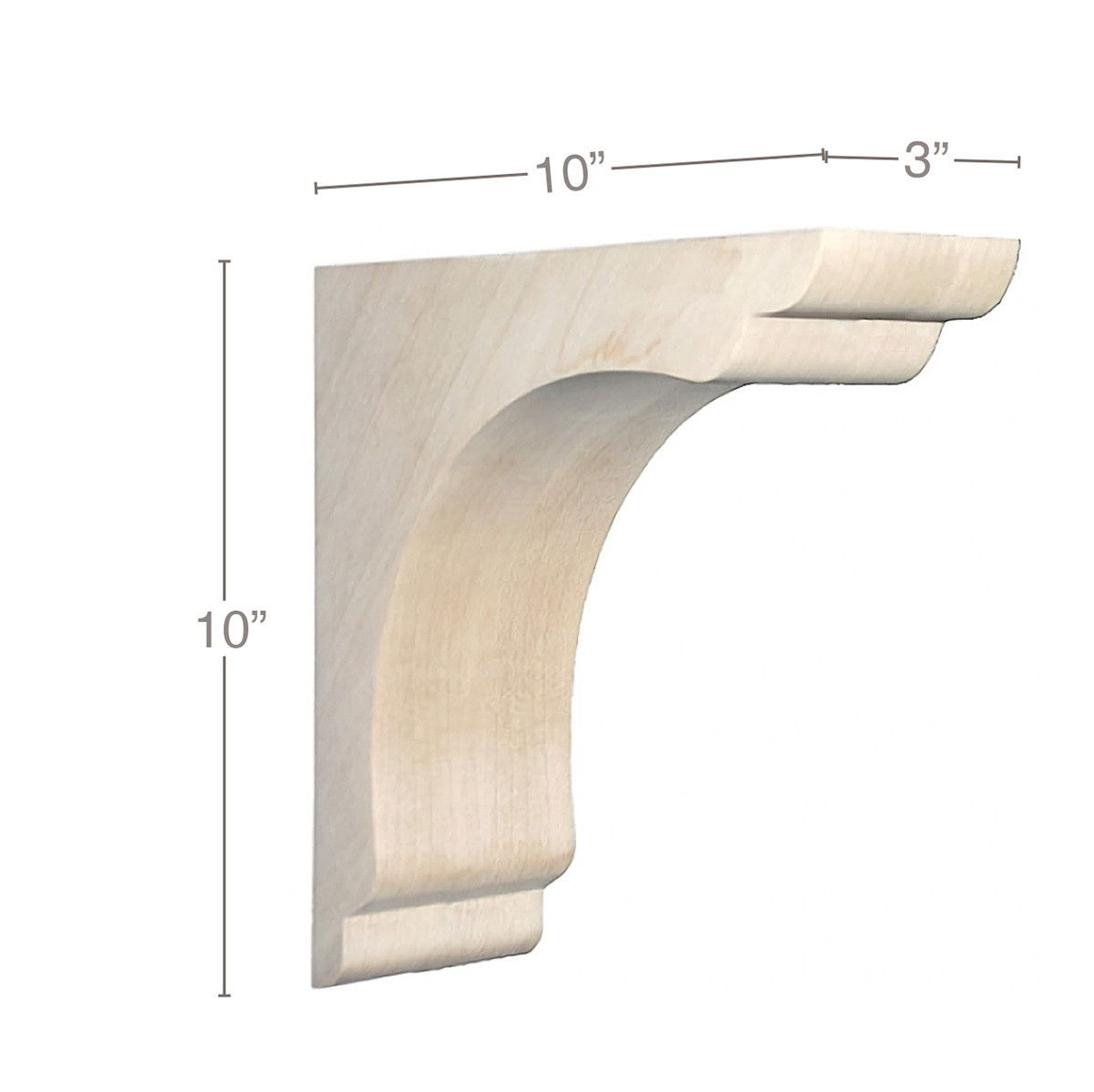 Shaker Overhang Bar Bracket Corbel 3 W X 10 H X 10 D Unfinished Wood Furniture Wooden Corbels Kitchen Island Corbels