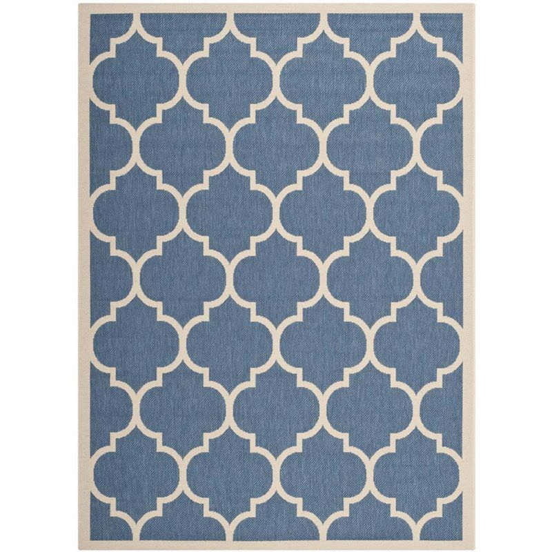 Safavieh Courtyard Blue Indoor Outdoor Rug 9 X 12 Indoor Outdoor Area Rugs Outdoor Rugs Patio Patio Rugs