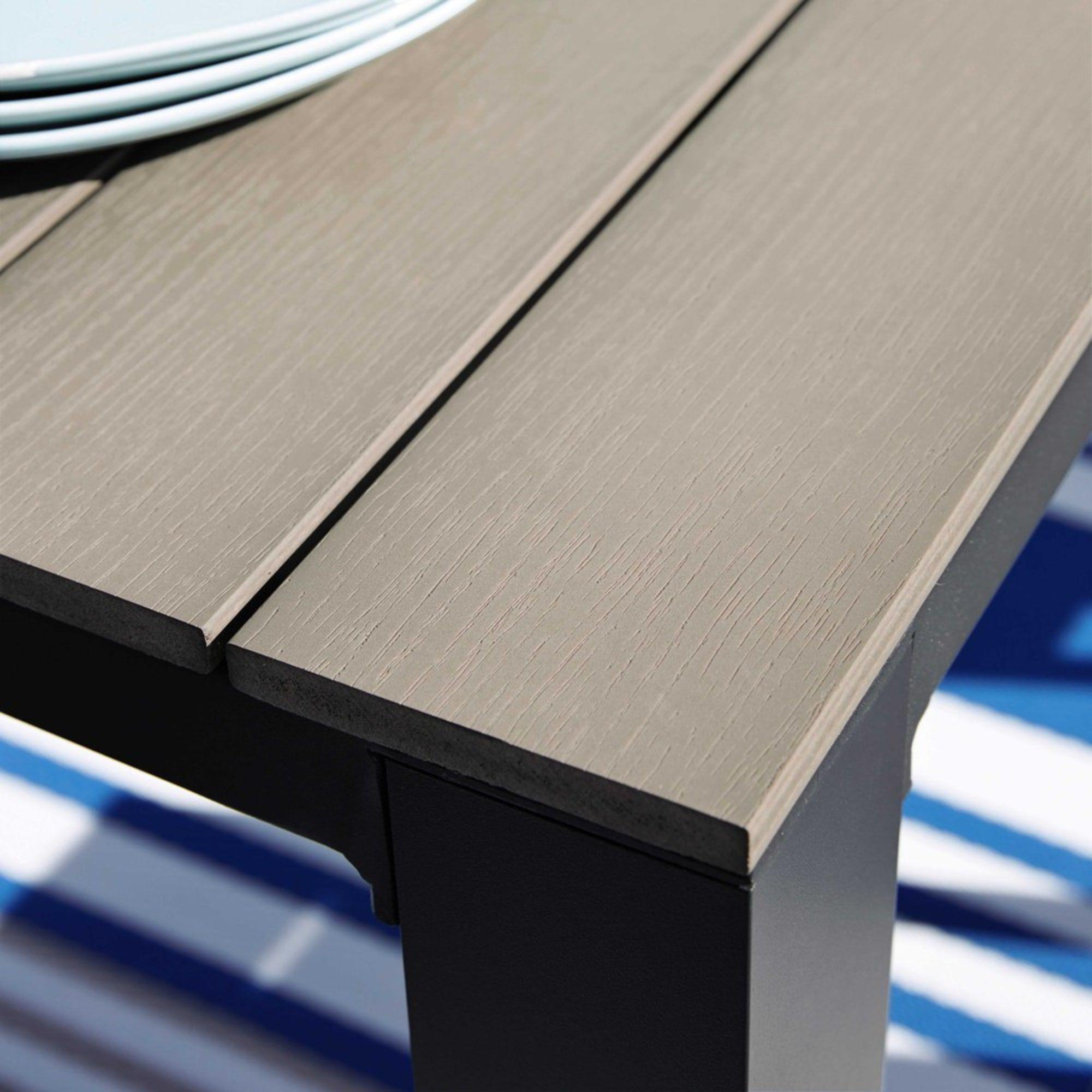 Vergrijsde Aluminium Tuintafel L 180 Cm Maisons Du Monde Alluminio Giardino Tavolo