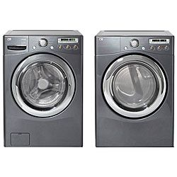 lg grey steam washer and gas dryer combo refurbished free