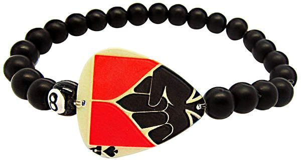 43baaca92015 Comfortably Numb Men s Bracelet. This edgy piece by Electric Picks features  an authentic ace guitar pick