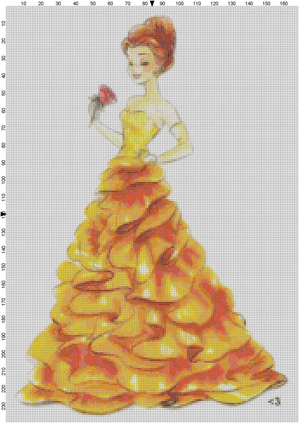 Belle cross stitch
