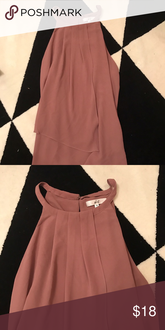 Salmon Adorable Tank High neck Blouse in salmon color. Adorable and looks great on. NWOT. Boutique brand from Nordstrom Nordstrom Tops Tank Tops