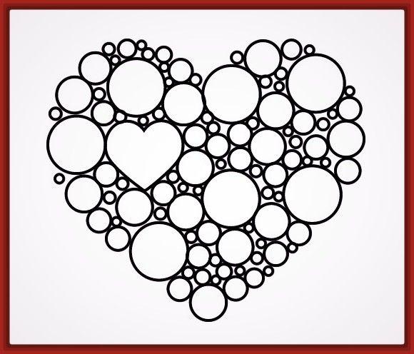 Dibujos de corazones para colorear en linea   pintar corazones ...