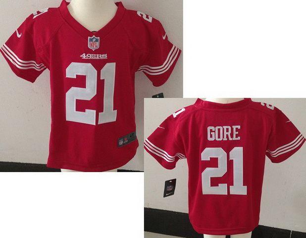 19df9efb0 NFL Nike Kids Toddler Game Jerseys San Francisco 49ers  21 Frank Gore Jersey  Red