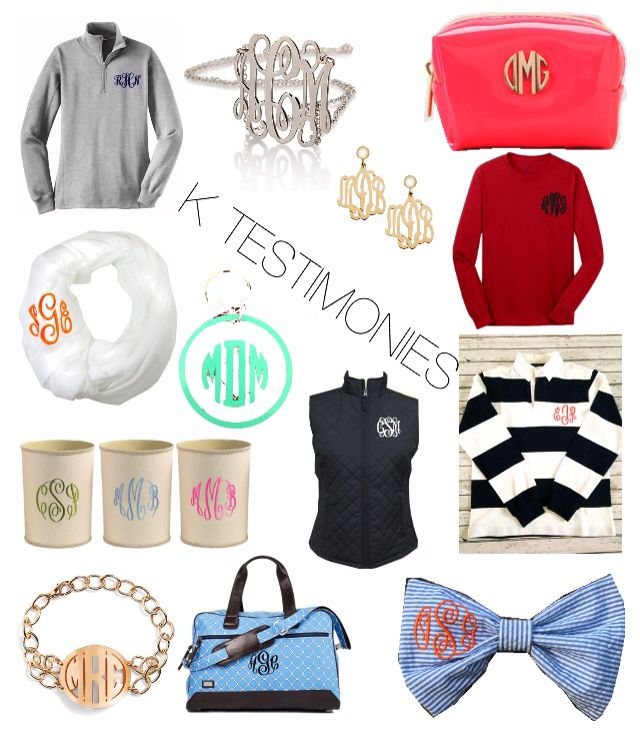 Tips for guys: trying to impress a southern girl or the ultimate prep? Monogram it and she's yours
