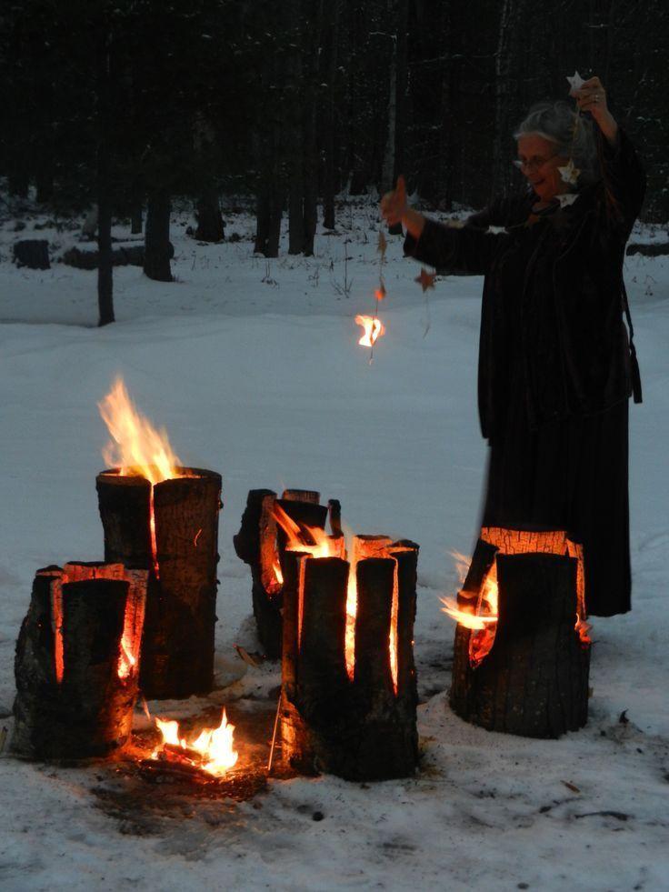 Woman Practicing Magick in 2020 Winter solstice
