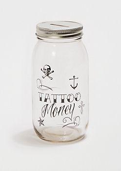 Tattoo Money Mason Jar Bank Tattoos Money Jars Jar Mason Jar Bank