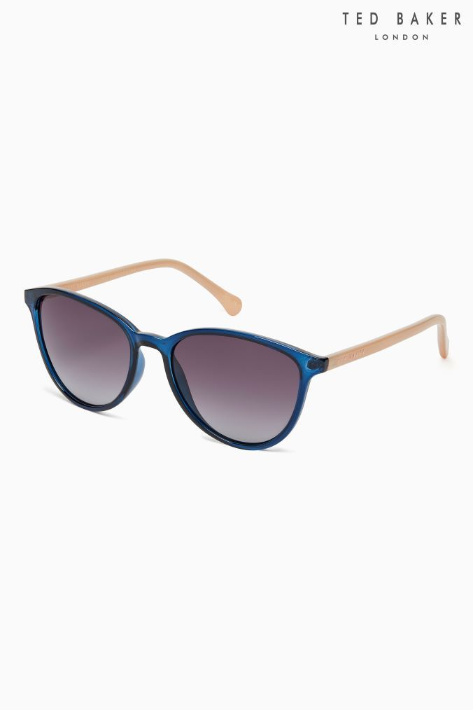 7451cba33b5 Womens Ted Baker Navy Nude Arm Tierney Sunglasses - Blue