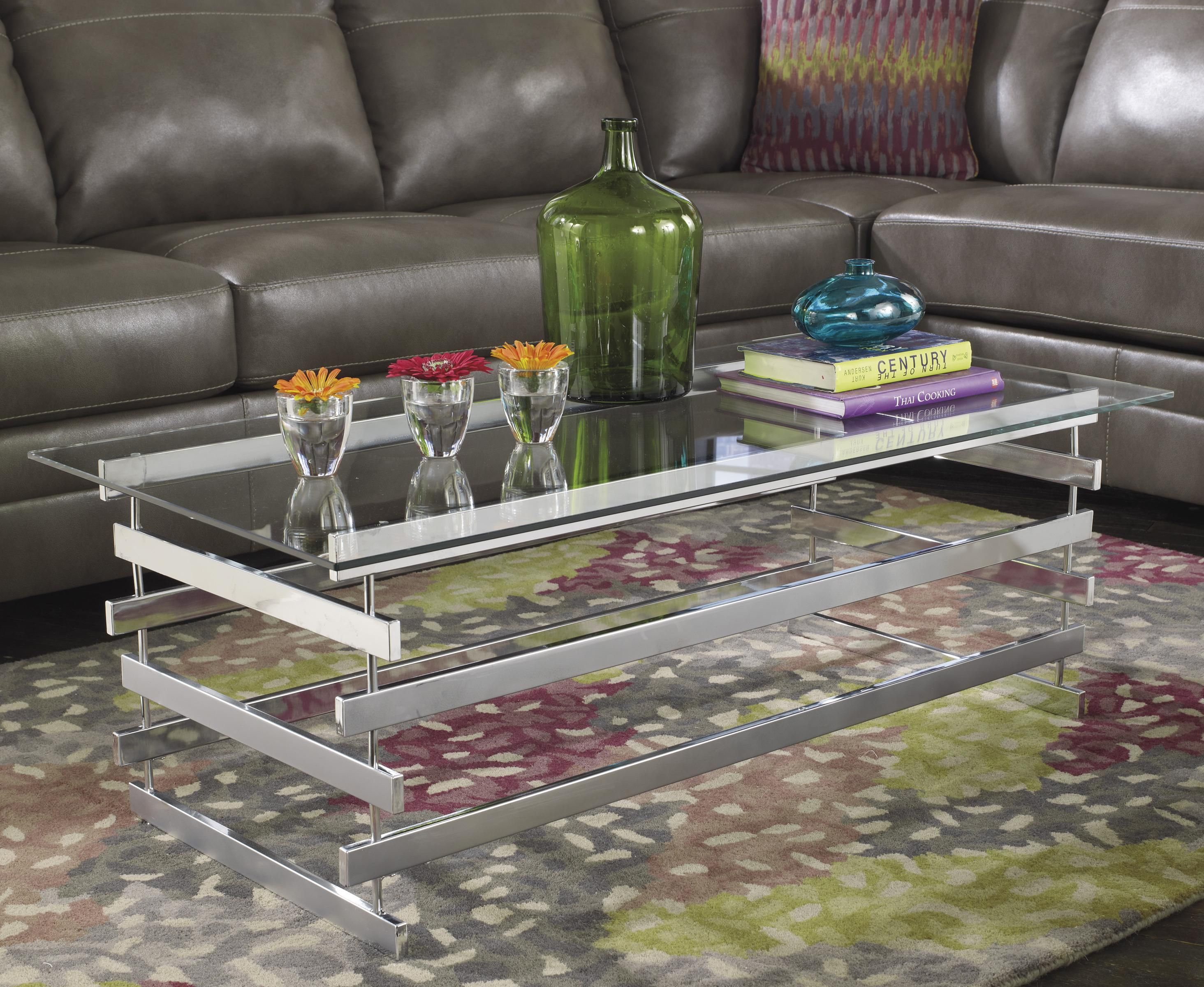 So Sophisticated Perfect For Anyone Looking For A More Classy Look To Add Their Living Room Delsolf Coffee Table Coffee And End Tables Glass Top Coffee Table [ 2400 x 2928 Pixel ]