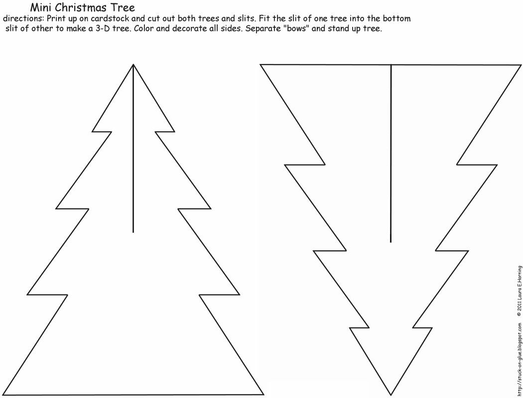 Paper Christmas Tree Template