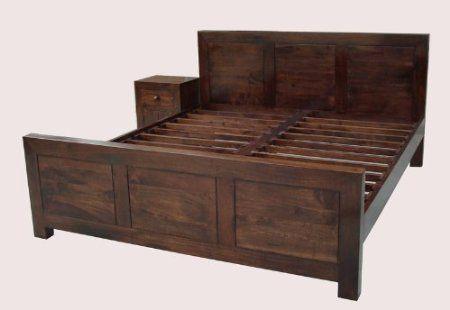Homescapes - Dakota - King Size Bed Frame - Dark - 100% Solid Mango ...