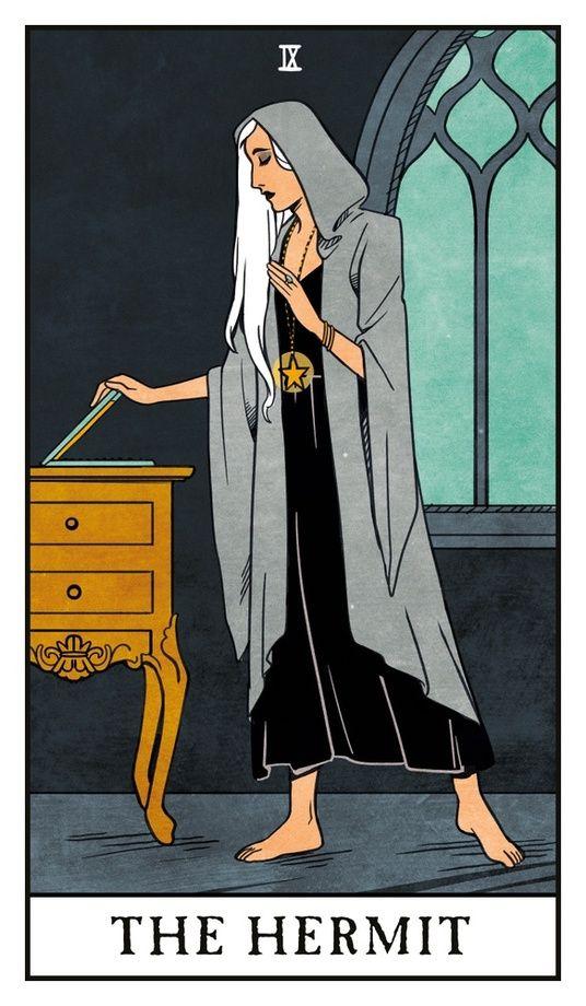 The Hermit - Modern Witch Tarot, an art print by Lisa Sterle