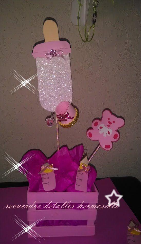 Tutorial Diy Centro De Mesa Baby Shower Baby Shower Centerpieces Baby Shower Baby Shower Nina