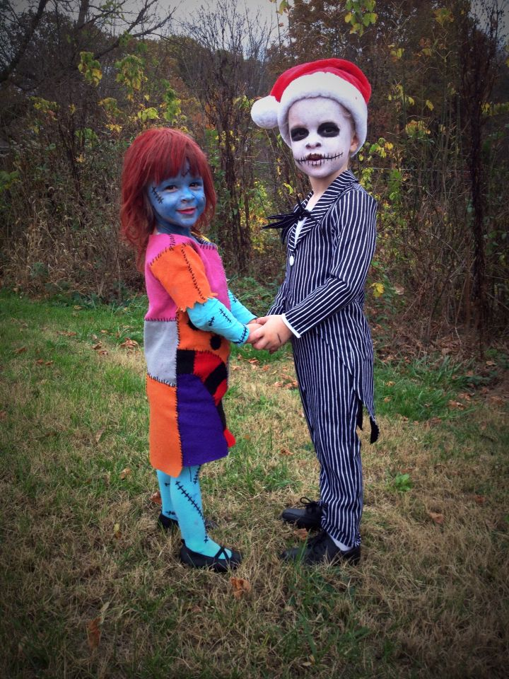 Nightmare before christmas jack and sally costumes for brother and diy halloween nightmare before christmas jack and sally costumes for brother and sister the sally costume solutioingenieria Gallery