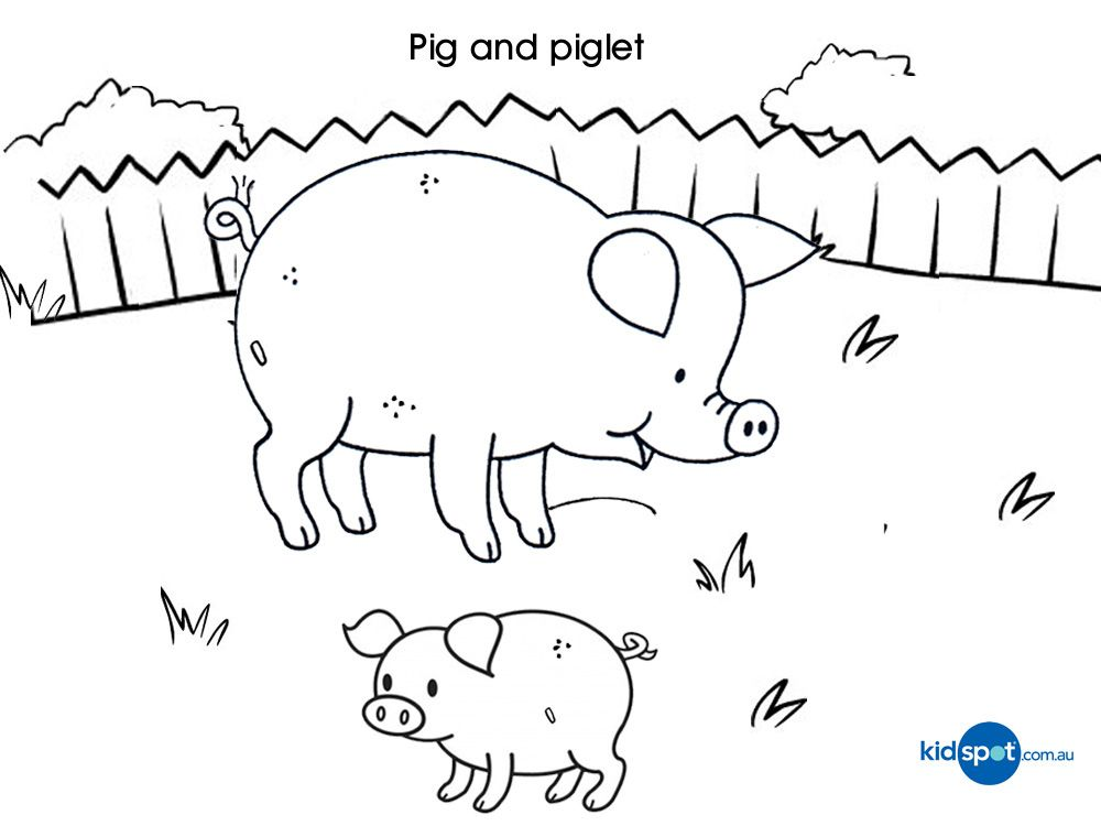 pigs and piglets coloring pages download and print for free - Coloring Pages Pigs Piglets