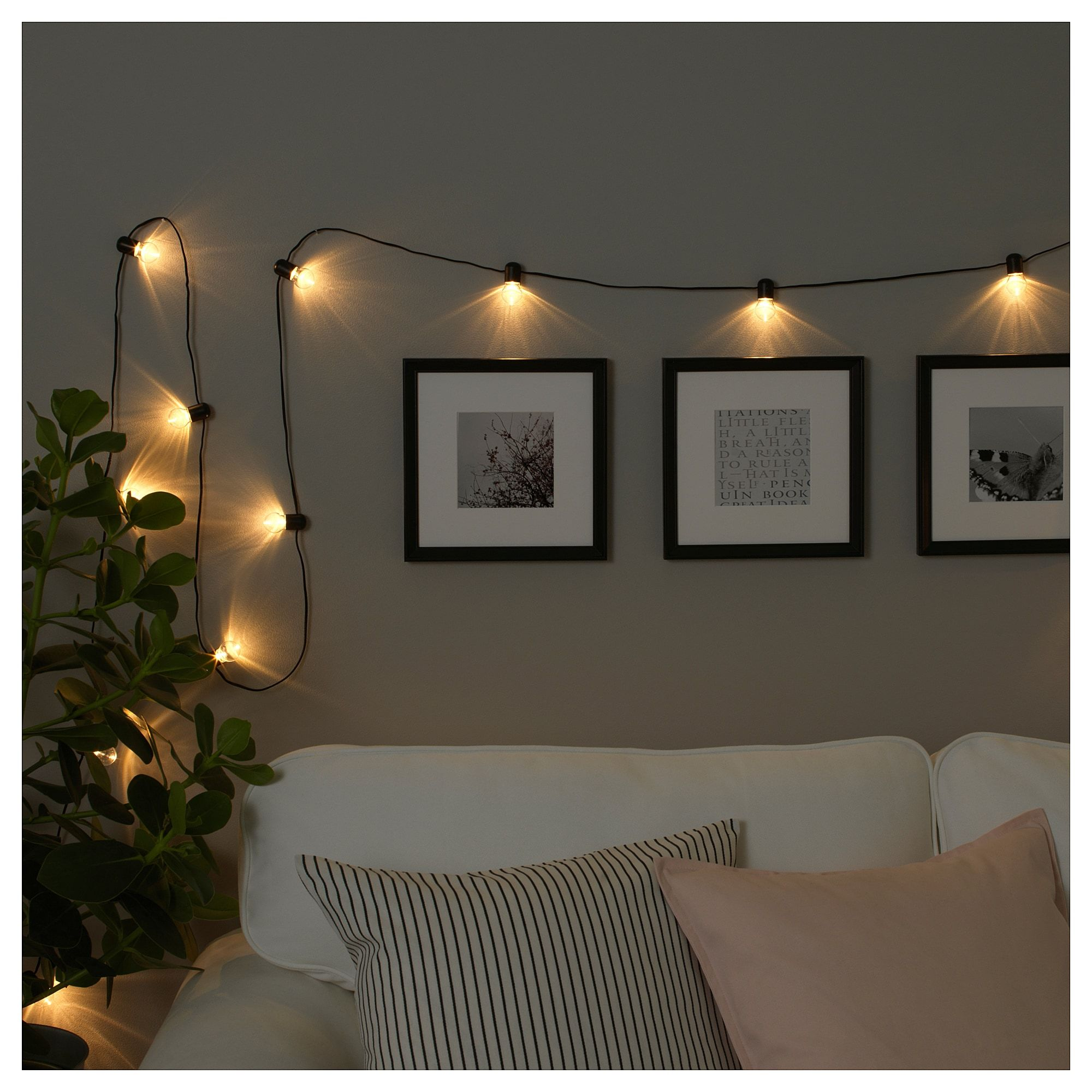 Ikea bl tsn led string light with 24 lights indoor - String lights for bedroom ...