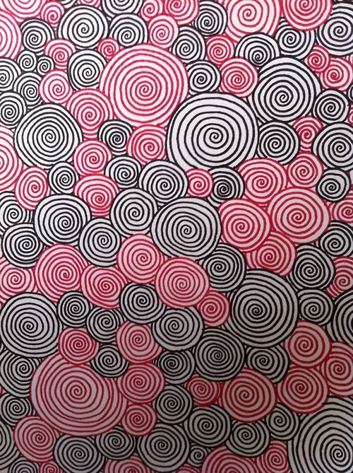 Swirls could use two complementary colors instead for sub lesson also rh pinterest