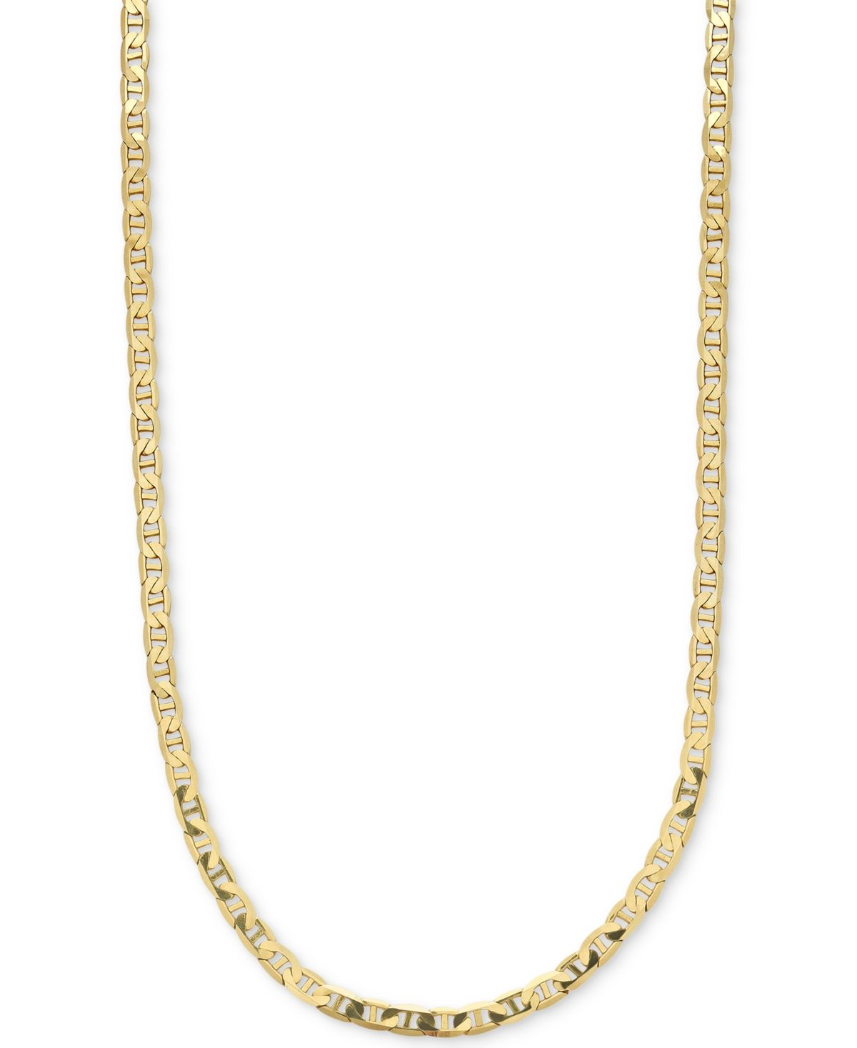 Men S Open Link 22 Chain Necklace 5 5 8mm In 10k Gold In 2020 Gold Necklace For Men Gold Chains For Men Macys Mens