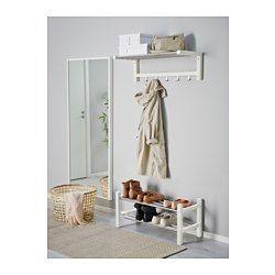 IKEA - TJUSIG, Hattehylle, hvit,