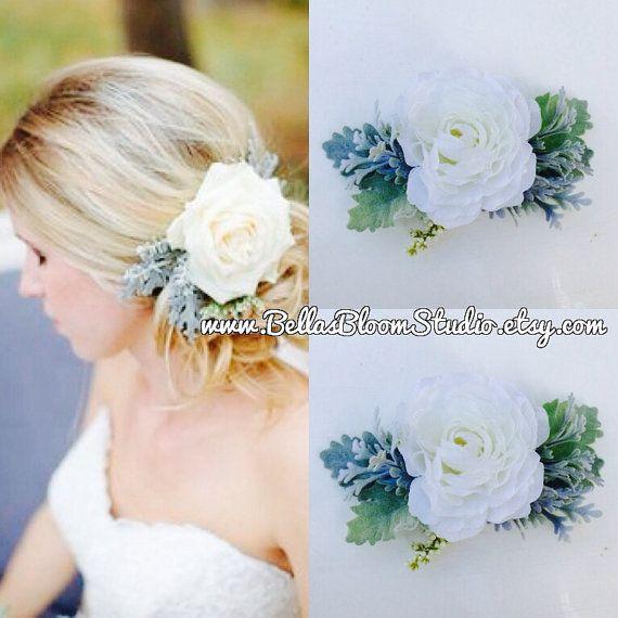 White flower clip bridal headpiece white hair flower bridal hair white flower clip bridal headpiece white hair flower bridal mightylinksfo