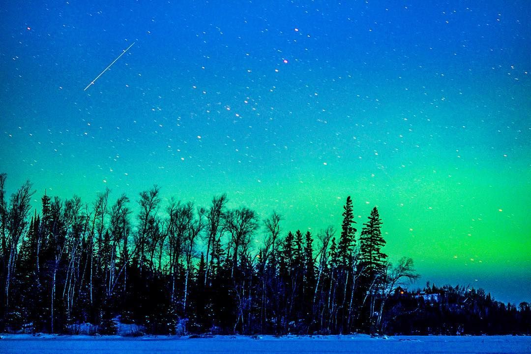 Northern lights from the magical Gunflint Trail in Grand