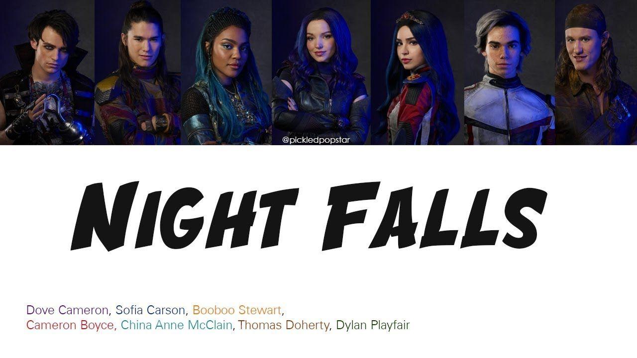 Night Falls - Descendants 3 Cast (Color Coded Lyrics) - YouTube #descendants3