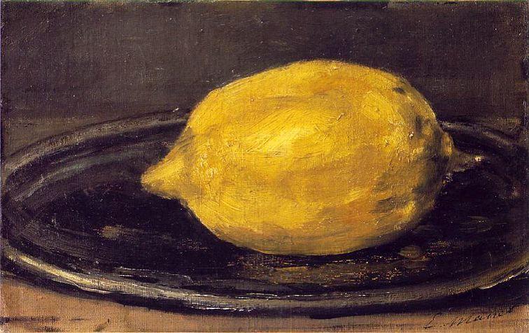Edouard Manet, (1832-1883) The Lemon, 1880 14 x 22 cm Oil on canvas Musee d'Orsay, Paris
