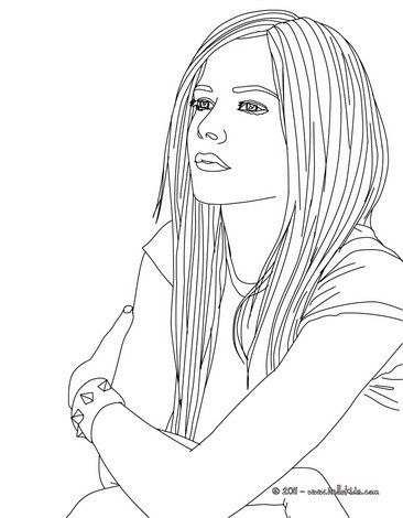 Avril Lavigne coloring page. More famous people content on