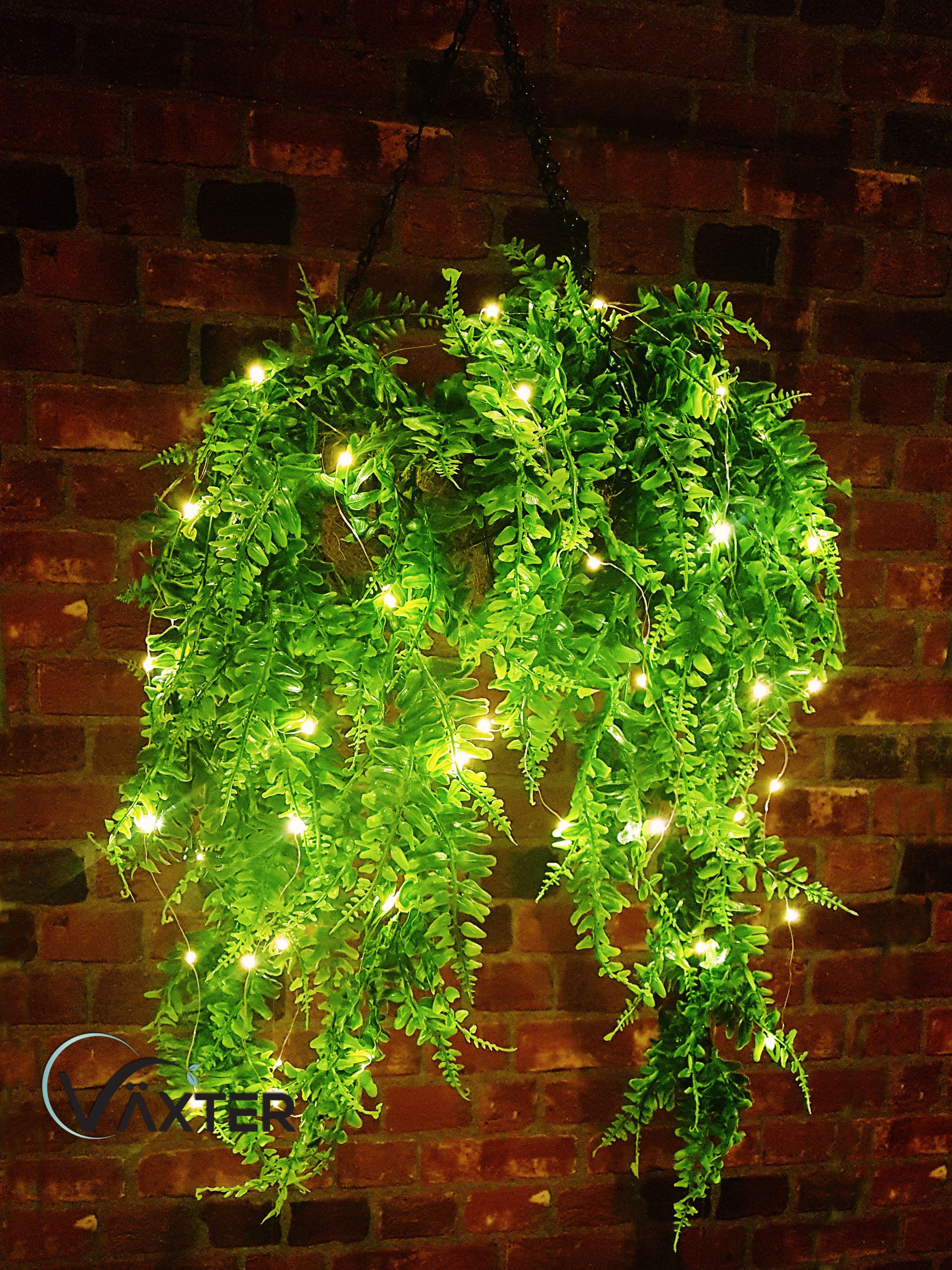 Växter Artificial Plants Boston Fern Ivy Vine Greenery 2pc