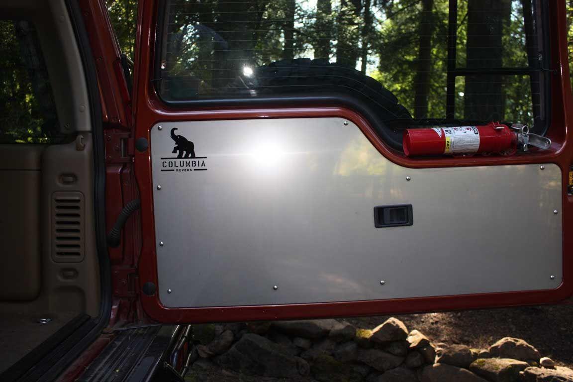 land rover discovery ii aluminum rear door panel [ 1152 x 768 Pixel ]