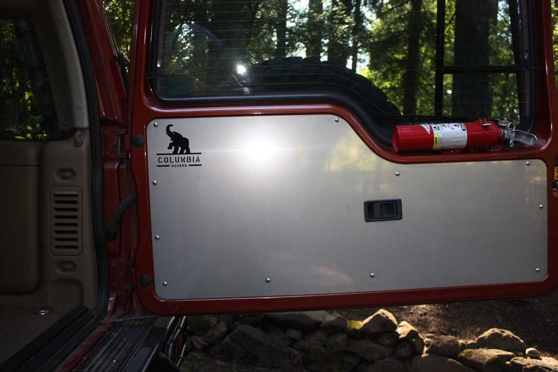 medium resolution of land rover discovery ii aluminum rear door panel
