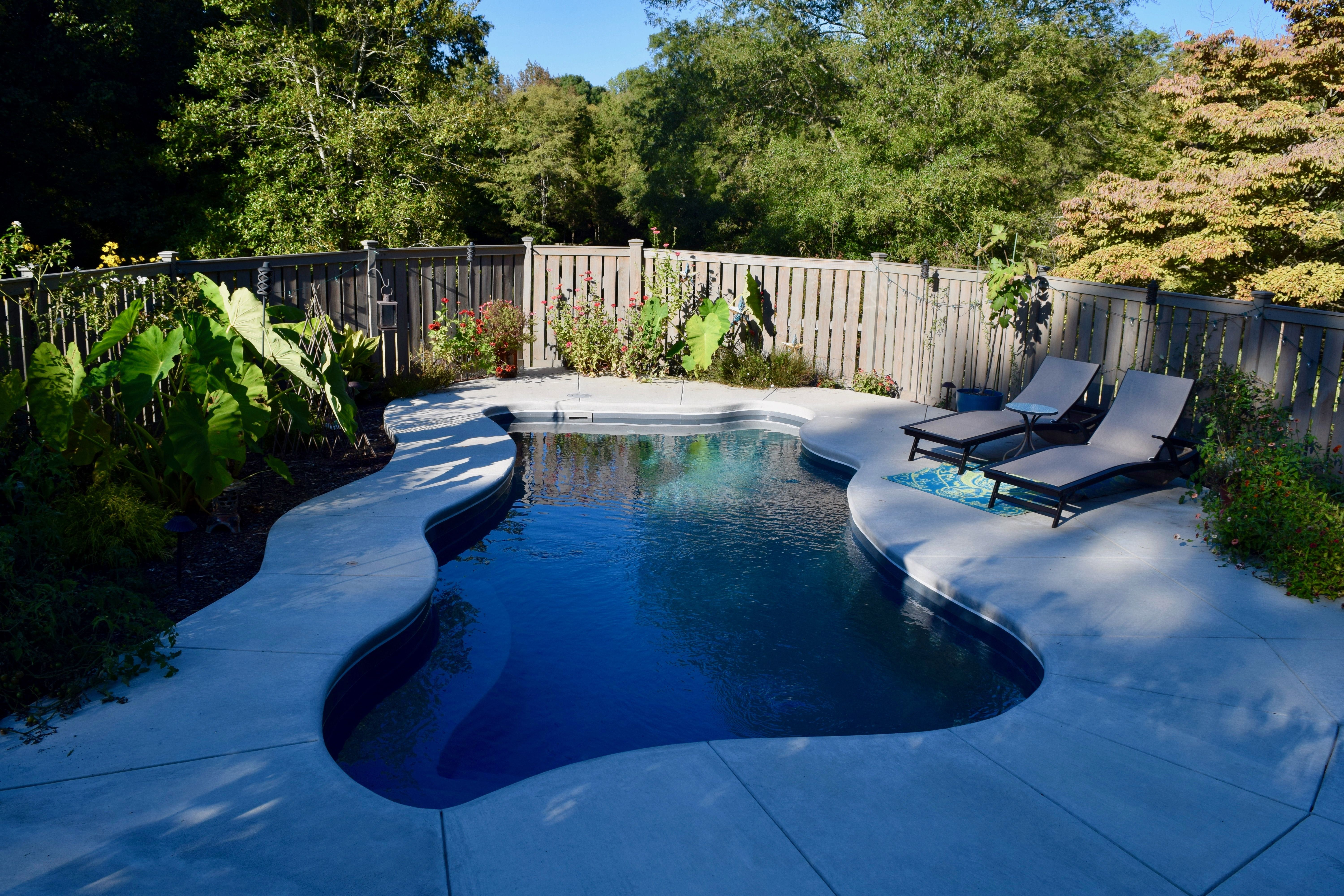 Featuring The Newton, A Small To Medium Sized Freeform Trilogy Pool In The  Color River Rock, The Clients Have ...